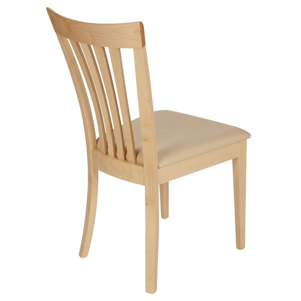 Stuhl Ahorn massiv, geölt und gepolstert 1300-4