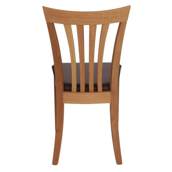 Stuhl Eiche massiv, geölt und gepolstert 1300-4