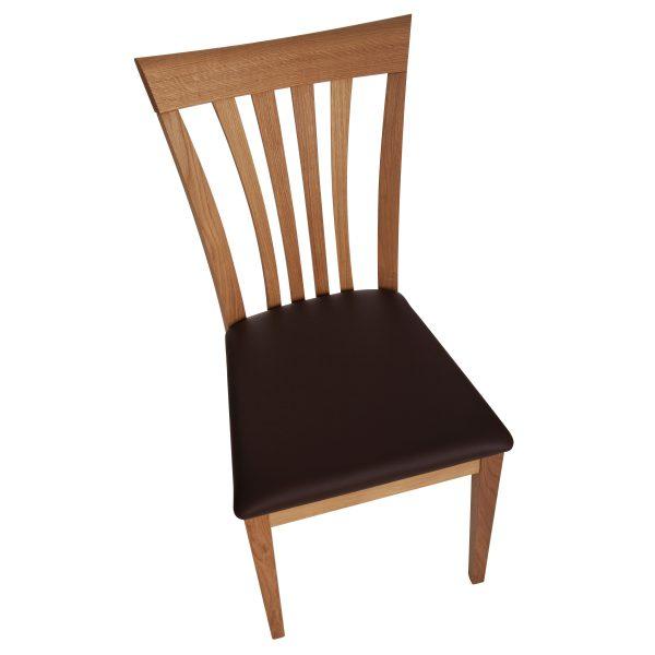 Stuhl Eiche massiv, geölt und gepolstert 1300-5