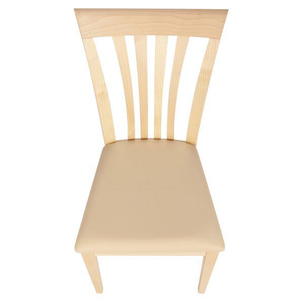 Stuhl Ahorn massiv, geölt und gepolstert 1300-6