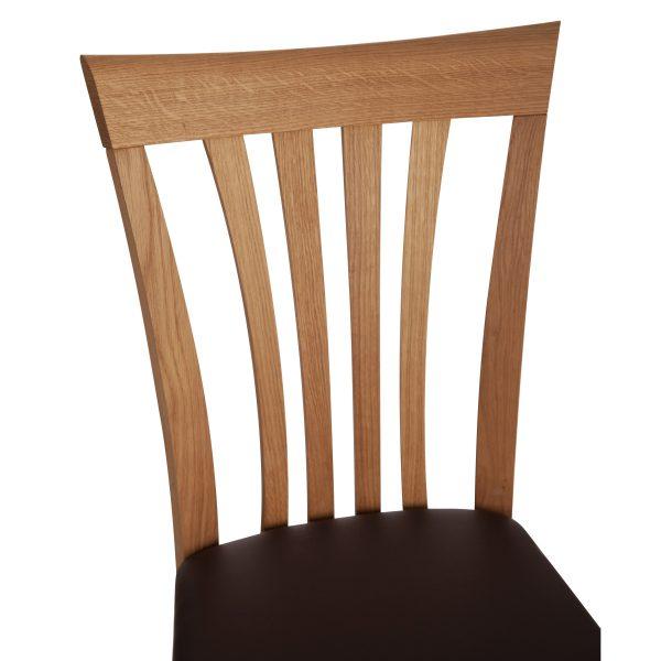 Stuhl Eiche massiv, geölt und gepolstert 1300-6