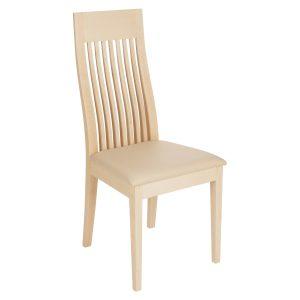 Stuhl Ahorn massiv, geölt und gepolstert 1390-1