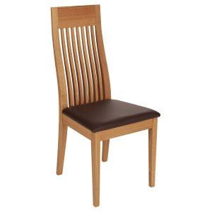 Stuhl Eiche massiv, geölt und gepolstert 1390-1