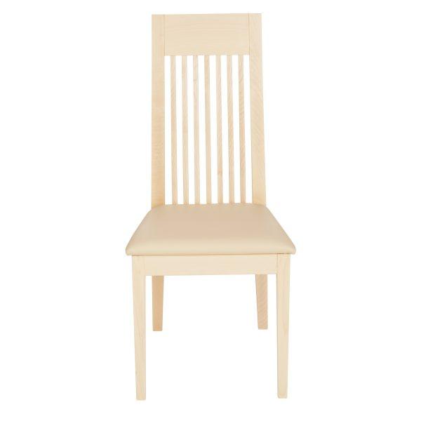 Stuhl Ahorn massiv, geölt und gepolstert 1390-2