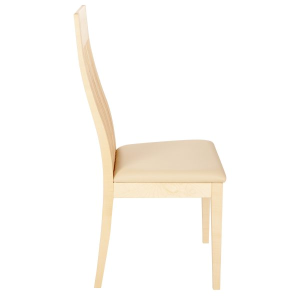 Stuhl Ahorn massiv, geölt und gepolstert 1390-3