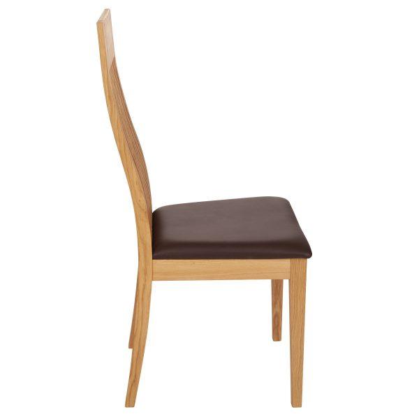 Stuhl Eiche massiv, geölt und gepolstert 1390-3