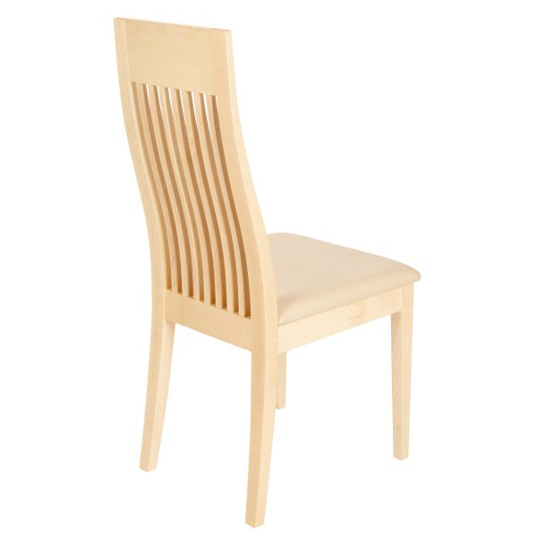 Stuhl Ahorn massiv, geölt und gepolstert 1390-4