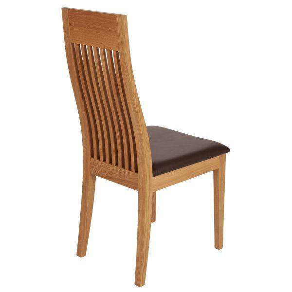 Stuhl Eiche massiv, geölt und gepolstert 1390-4