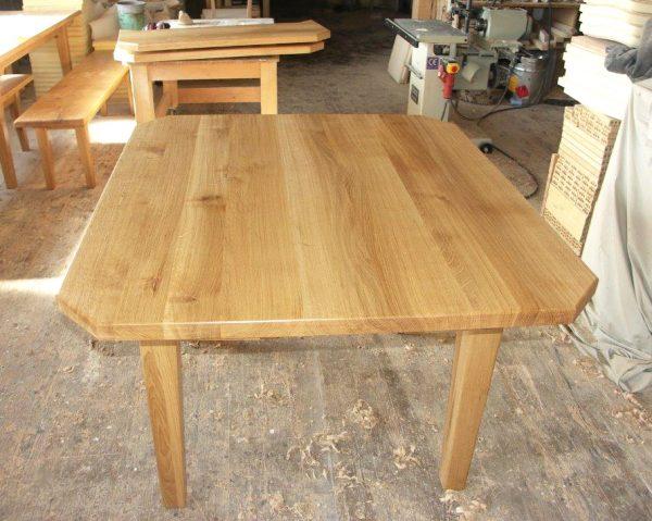 Ansteckplatten Massivholz Tisch 20300-1