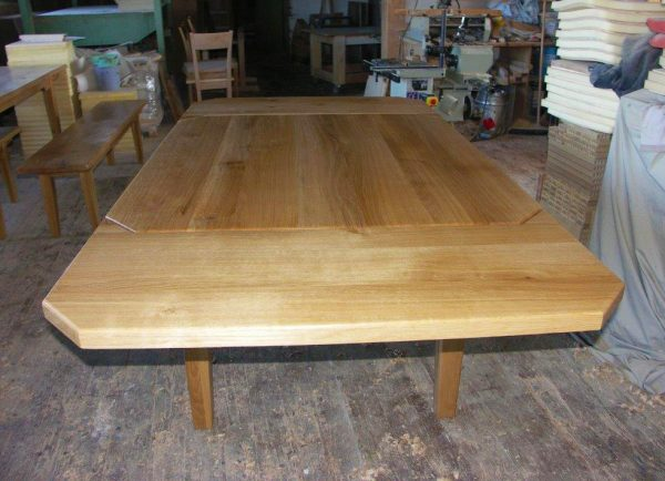 Ansteckplatten Massivholz Tisch 20300-2