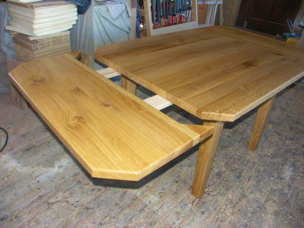 Ansteckplatten Massivholz Tisch 20300-4