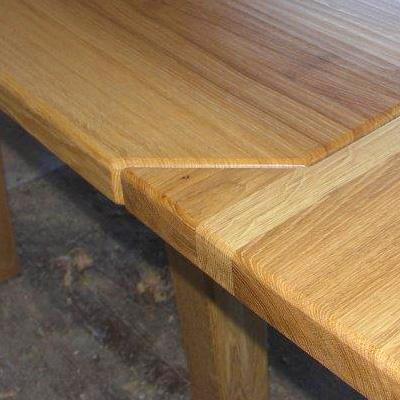Ansteckplatten Massivholz Tisch 20300-5