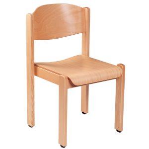 Stapelbarer Massivholz Stuhl 2500-1