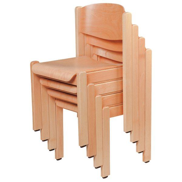 Stapelbarer Massivholz Stuhl 2500-2
