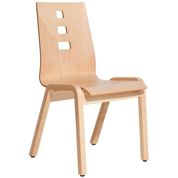 Stapelbarer Massivholz Stuhl 2510-1