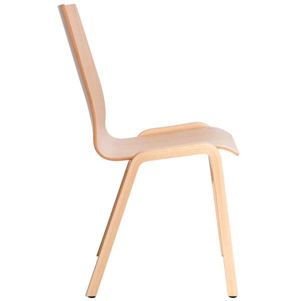 Stapelbarer Massivholz Stuhl 2510-2
