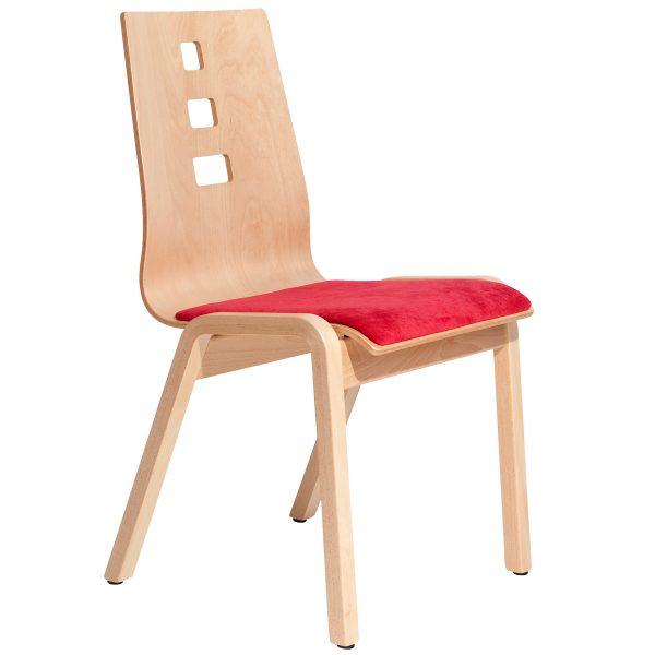 Stapelbarer Massivholz Stuhl 2510-3