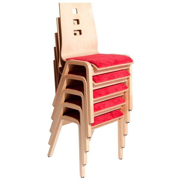 Stapelbarer Massivholz Stuhl 2510-4