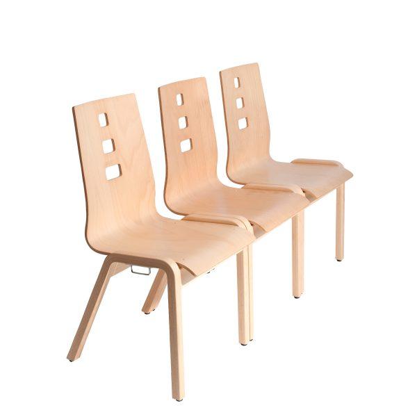 Stapelbarer Massivholz Stuhl 2510-5
