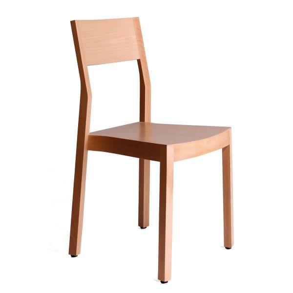 Stapelbarer Massivholz Stuhl 2530-2
