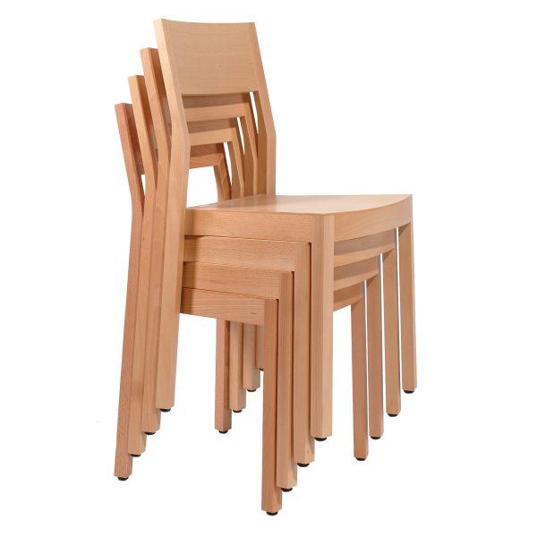 Stapelbarer Massivholz Stuhl 2530-3