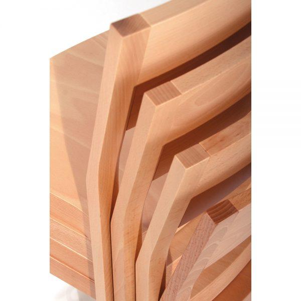 Stapelbarer Massivholz Stuhl 2530-4