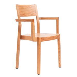 Stapelbarer Massivholz Stuhl 2530L-1