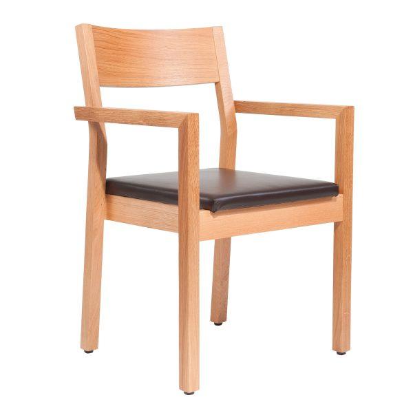 Stapelbarer Massivholz Stuhl 2540L-1