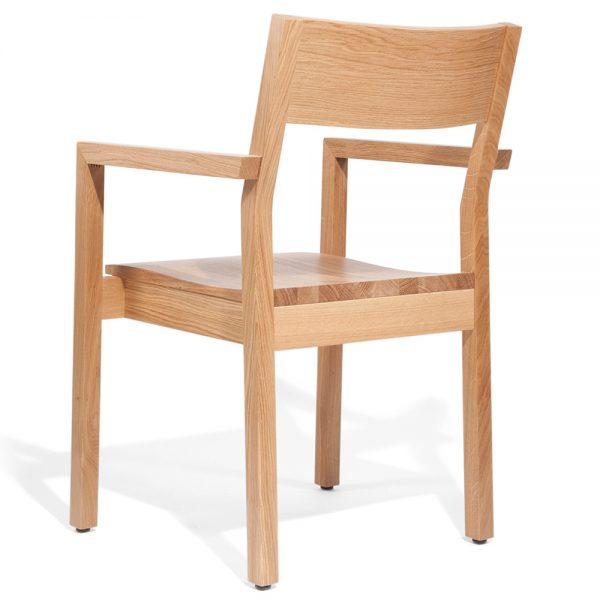 Stapelbarer Massivholz Stuhl 2540L-4