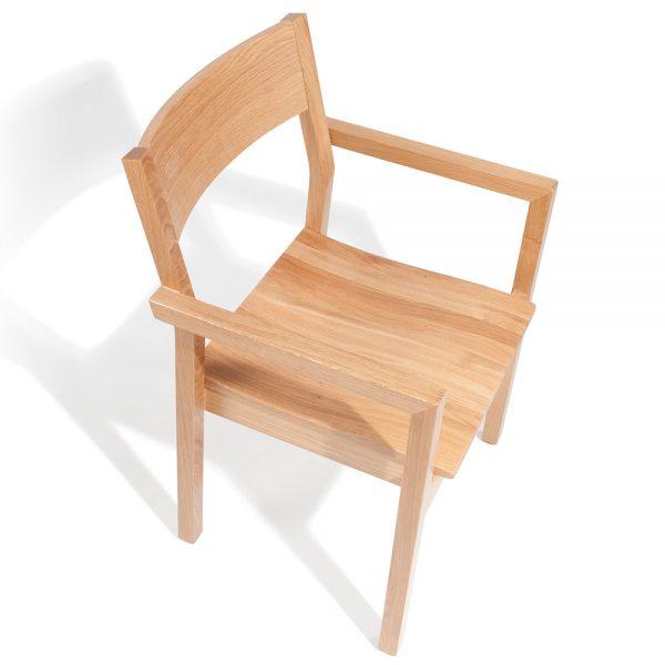 Stapelbarer Massivholz Stuhl 2540L-5