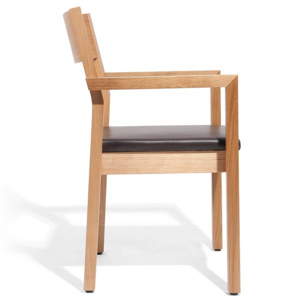 Stapelbarer Massivholz Stuhl 2540L-6