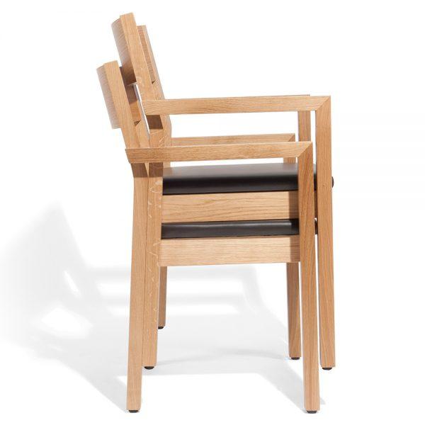Stapelbarer Massivholz Stuhl 2540L-7