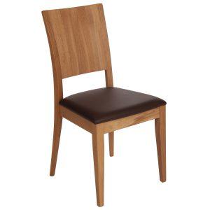 Stuhl Eiche massiv, geölt und gepolstert 900-1
