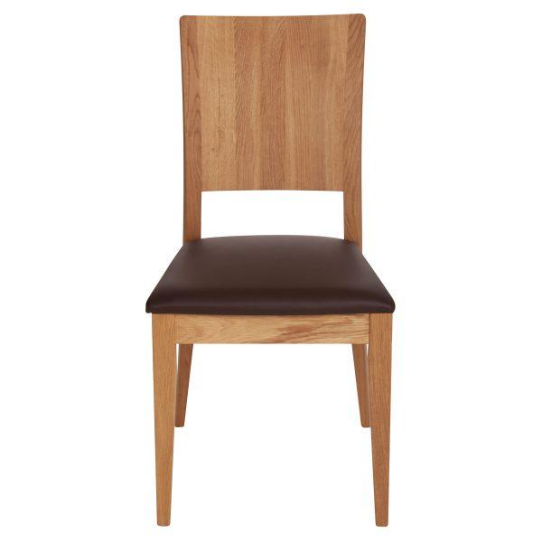 Stuhl Eiche massiv, geölt und gepolstert 900-2