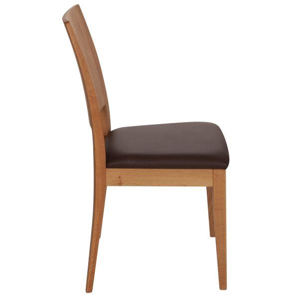 Stuhl Eiche massiv, geölt und gepolstert 900-3
