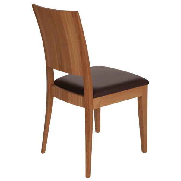 Stuhl Eiche massiv, geölt und gepolstert 900-4