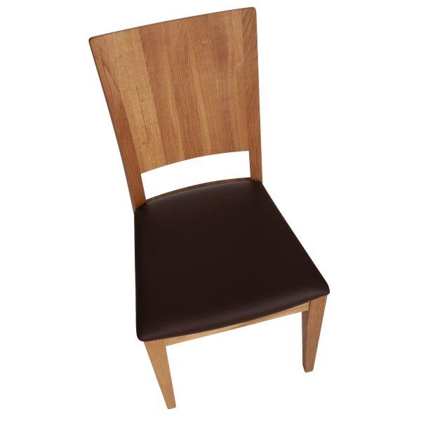 Stuhl Eiche massiv, geölt und gepolstert 900-6